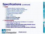 specifications continued3