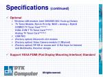 specifications continued6