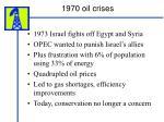 1970 oil crises