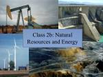 class 2b natural resources and energy