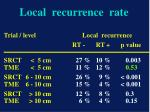 local recurrence rate