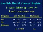 swedish rectal cancer register