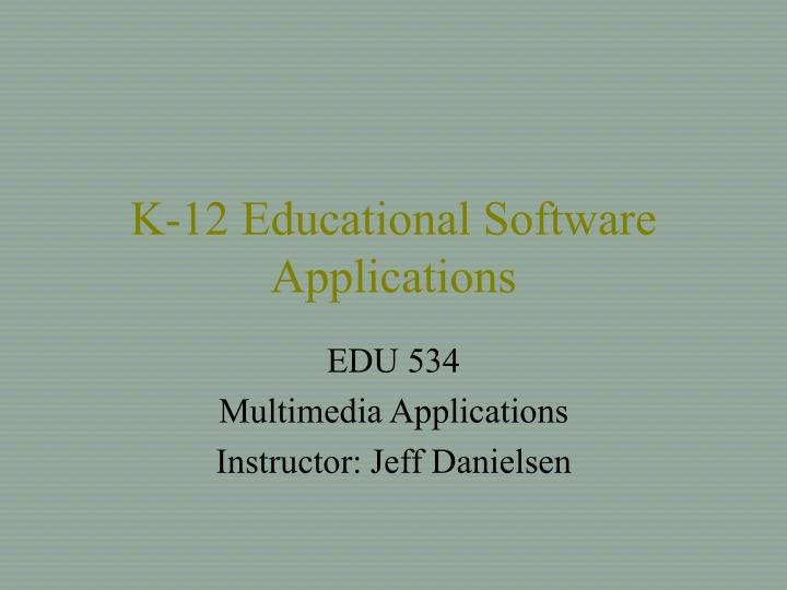 k 12 educational software applications n.