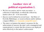 another view of political organisation 1