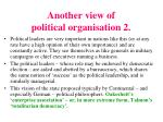 another view of political organisation 2