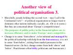 another view of political organisation 3
