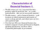 characteristics of financial business 1