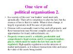 one view of political organisation 2