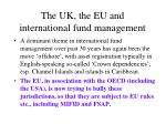 the uk the eu and international fund management