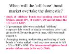 when will the offshore bond market overtake the domestic