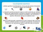 la proposta sportiva