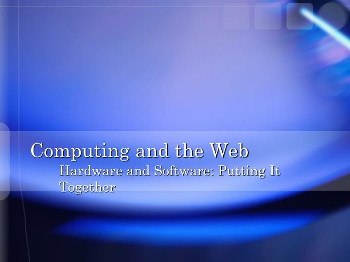 computing and the web n.