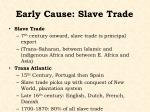 early cause slave trade