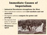 immediate causes of imperialism