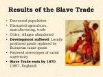 results of the slave trade