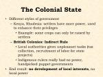 the colonial state1