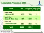 completed projects in 2005