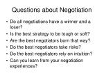 questions about negotiation
