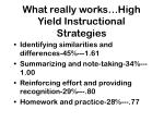 what really works high yield instructional strategies