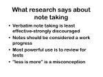 what research says about note taking