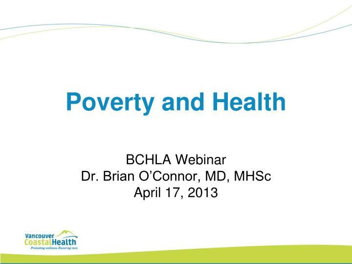 poverty and health n.