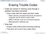 erasing trouble codes