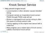 knock sensor service