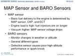 map sensor and baro sensors