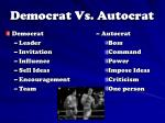 democrat vs autocrat