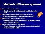 methods of encouragement