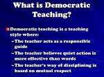 what is democratic teaching
