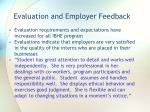evaluation and employer feedback