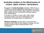 australian studies on the effectiveness of victims rights charters declarations