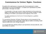 commissioner for victims rights functions1