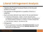 literal infringement analysis