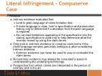 literal infringement compuserve case
