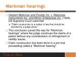 markman hearings