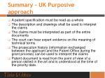 summary uk purposive approach