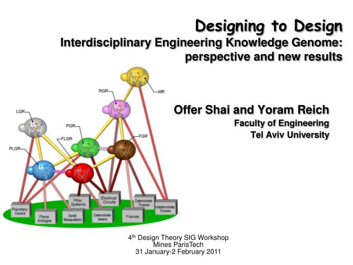 designing to design interdisciplinary engineering knowledge genome perspective and new results n.