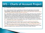 dfs charts of account project2