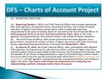 dfs charts of account project3