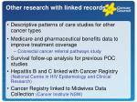other research with linked records