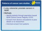 patterns of cancer care studies1