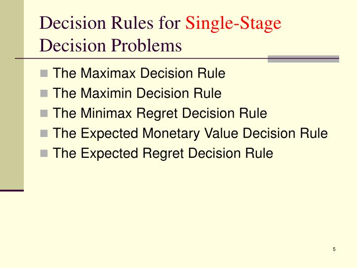 Decision Rules for