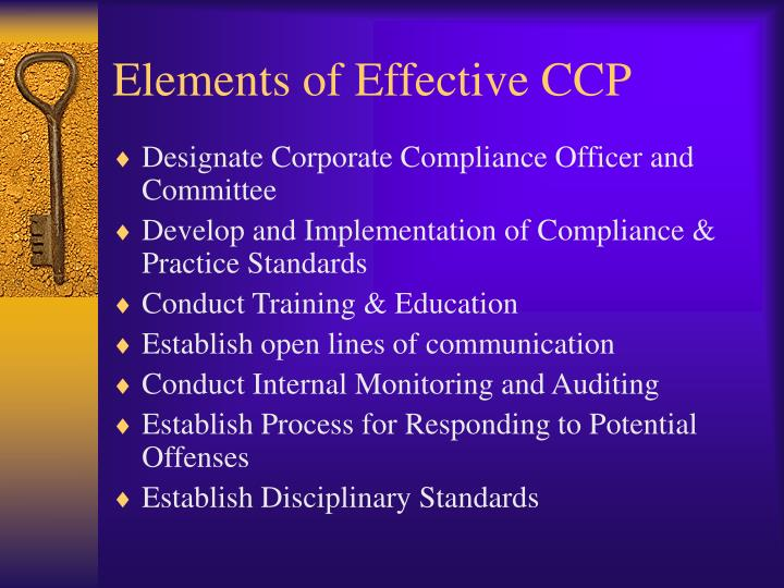 Elements of Effective CCP