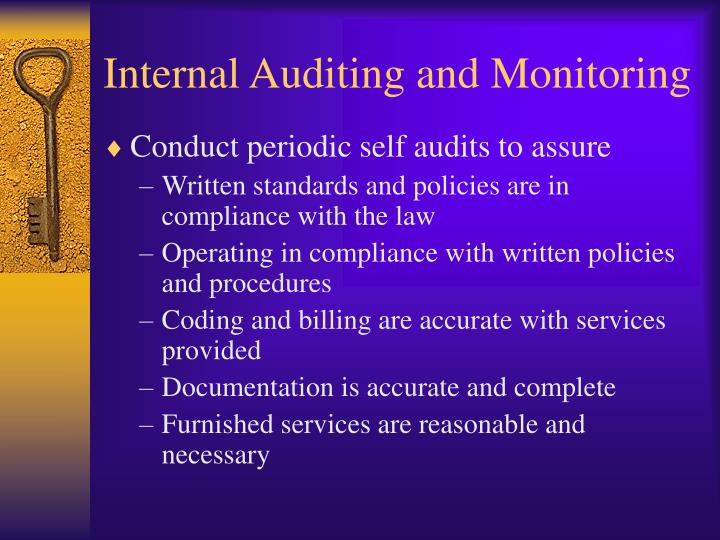 Internal Auditing and Monitoring