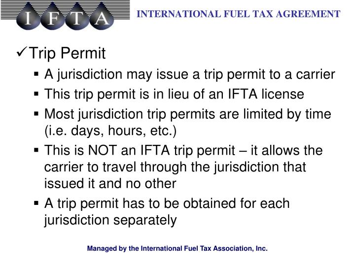 Trip Permit