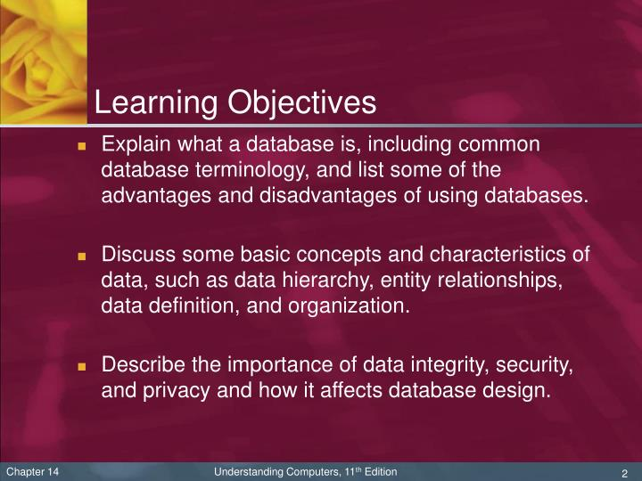 importance of database Database, also called electronic database, any collection of data, or information, that is specially organized for rapid search and retrieval by a computer databases are structured to facilitate the storage, retrieval, modification, and deletion of data in conjunction with various data-processing operations.