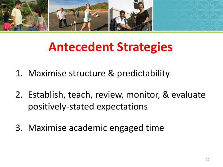 Antecedent Strategies