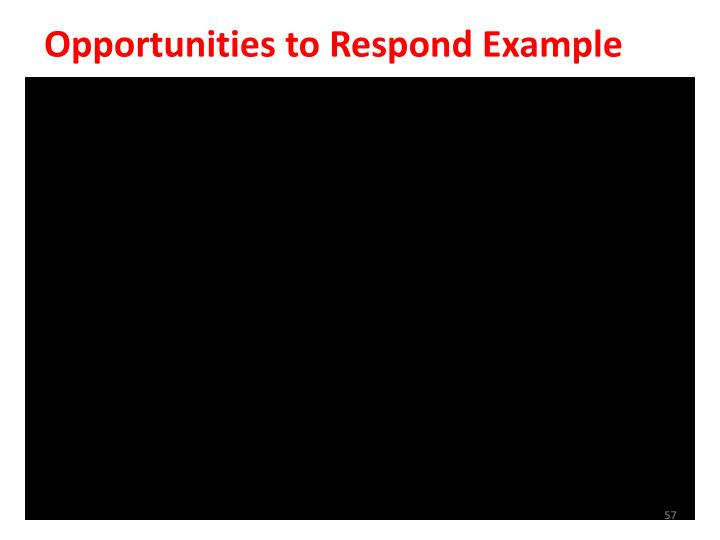 Opportunities to Respond Example